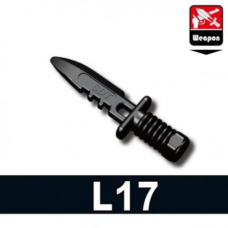 Lego Accessoires Minifig Si-Dan Toys Bayonet L17 (noir) (La Petite Brique)