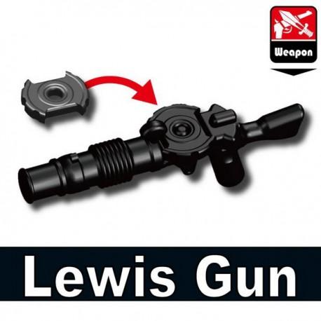 Lego Accessoires Minifig Si-Dan Toys Lewis Gun (noir) (La Petite Brique)