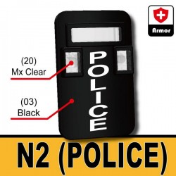 Bulletproof Shield N2 - POLICE (Black)