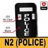 Bulletproof Shield N2 - POLICE (Black)