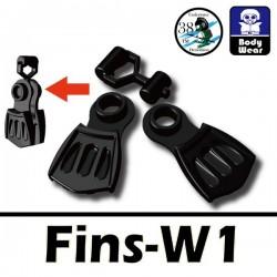 Lego Accessoires Minifig Si-Dan Toys Palmes W1 (noir) (La Petite Brique)