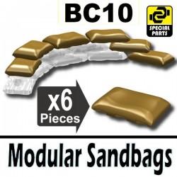 Lego Accessoires Minifig Si-Dan Toys 6 Sacs de sable BC10 (Beige foncé) (La Petite Brique)