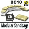 Lego Accessoires Minifig Si-Dan Toys 6 Sacs de sable BC10 (Beige) (La Petite Brique)