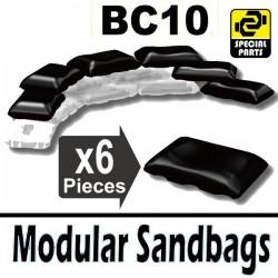 Lego Accessoires Minifig Si-Dan Toys 6 Sacs de sable BC10 (Noir) (La Petite Brique)