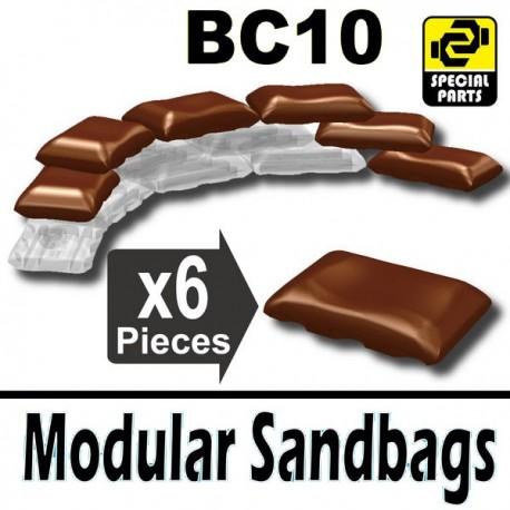 Lego Accessoires Minifig Si-Dan Toys 6 Sacs de sable BC10 (Marron) (La Petite Brique)
