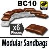6 Modular Sandbags BC10 (Brown)