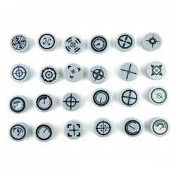 Pack 24 Gauges (Round Tile 1x1 - Light Bluish Gray)