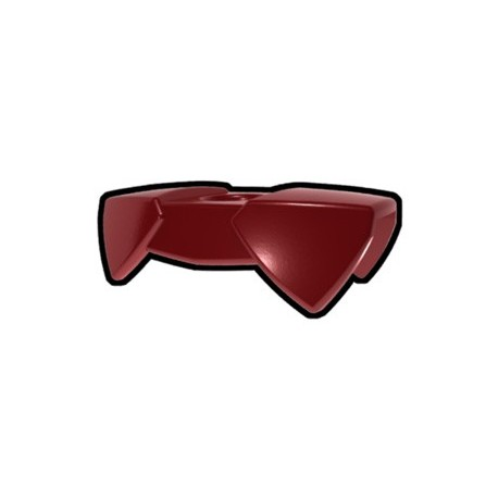 Lego Accessoires Minifig Custom AREALIGHT Dark Red Two-Sided Pauldron (La Petite Brique)