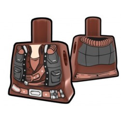 Lego Accessoires Minifig Custom AREALIGHT Torse féminin Brown Smuggler (La Petite Brique)