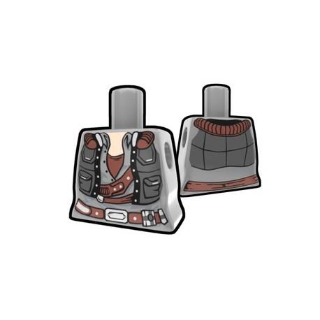 Gray Curved Torso Smuggler