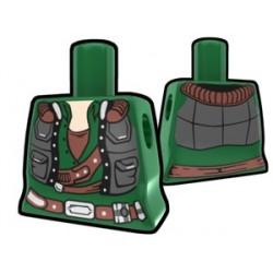 Lego Accessoires Minifig Custom AREALIGHT Torse féminin Green Smuggler (La Petite Brique)