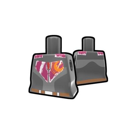 Lego Accessoires Minifig Custom AREALIGHT Torse féminin Dark Gray Rebel (La Petite Brique)