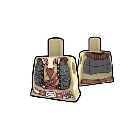 Lego Accessoires Minifig AREALIGHT Torse féminin Tan Smuggler (La Petite Brique)
