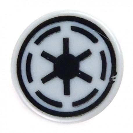 Star Wars LEGO x 10 Dark Bluish Gray Tile 2 x 2 with SW Imperial Logo Pattern