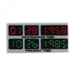 Lego Accessoires Minifig Retour vers le Futur (Destination Time)- Tile 1x2 (LBG) (La Petite Brique)