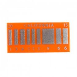 Lego Accessoires Minifig Retour vers le Futur (Plaque California)- Tile 1x2 (La Petite Brique)