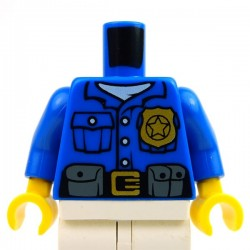 Blue Torso Police Shirt, Gold Badge