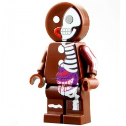 Lego Minifig CUSTOM BRICKS Minifig Jason Freeny Gingerbread Anatomy (La Petite Brique)