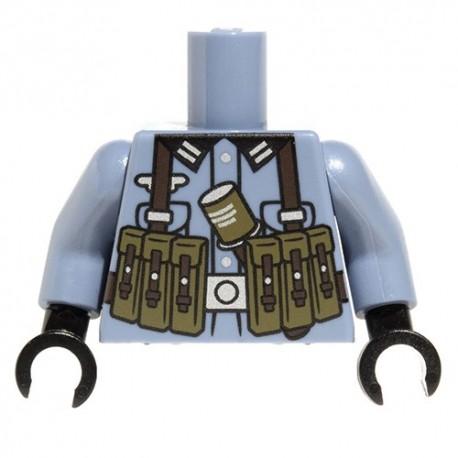 Lego Accessoires Minifig Custom CITIZEN BRICK Torse minifig - German MP40 (Sand Blue) (La Petite Brique)