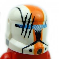 Lego Accessoires Minifig Custom CLONE ARMY CUSTOMS Commando Hope Orange Helmet (La Petite Brique)
