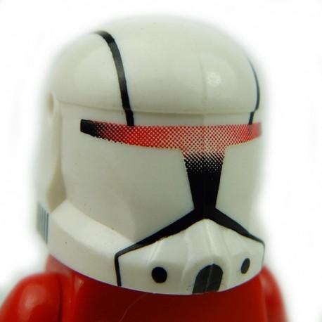 Lego Accessoires Minifig Custom CLONE ARMY CUSTOMS Commando Plain Red Helmet (La Petite Brique)