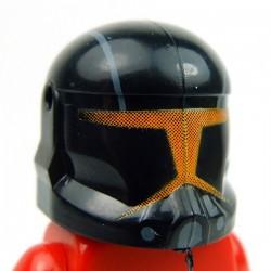 Lego Accessoires Minifig Custom CLONE ARMY CUSTOMS Commando Shadow Orange Helmet (La Petite Brique)