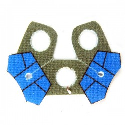 Shoulder Cloth Arc Double Blue