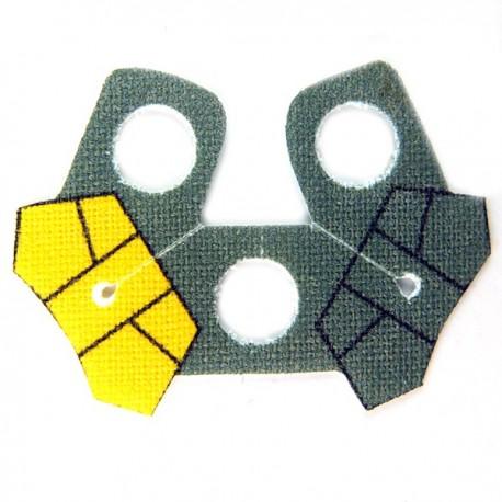 Lego Accessoires Minifig Custom CLONE ARMY CUSTOMS Shoulder Cloth Arc Pauldron Yellow (La Petite Brique)