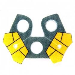 Lego Accessoires Minifig Custom CLONE ARMY CUSTOMS Shoulder Cloth Arc Double Yellow (La Petite Brique)
