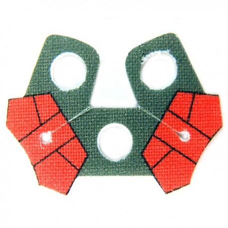 Lego Accessoires Minifig Custom CLONE ARMY CUSTOMS Shoulder Cloth Arc Double Red (La Petite Brique)