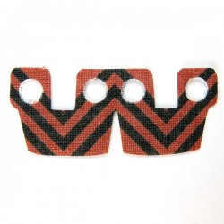 Waistcape Dark Red Black Stripes