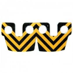 Waistcape Orange Black Stripes