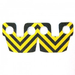 Waistcape Yellow Black Stripes