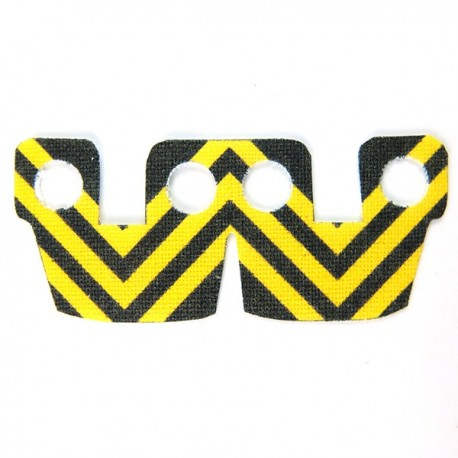 Waistcape Yellow Black Stripes