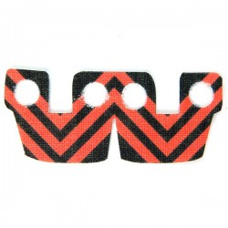 Waistcape Red Black Stripes