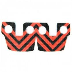 Lego Accessoires Minifig Custom CLONE ARMY CUSTOMS Waistcape Red Black Stripes (La Petite Brique)