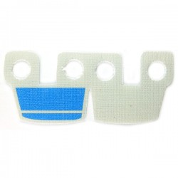 Lego Accessoires Minifig Custom CLONE ARMY CUSTOMS Waistcape Light Gray Blue Marks (La Petite Brique)