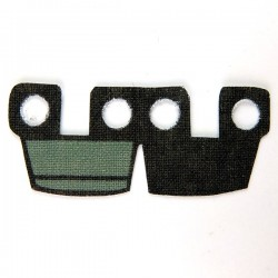 Lego Accessoires Minifig Custom CLONE ARMY CUSTOMS Waistcape Black Dark Gray Marks (La Petite Brique)