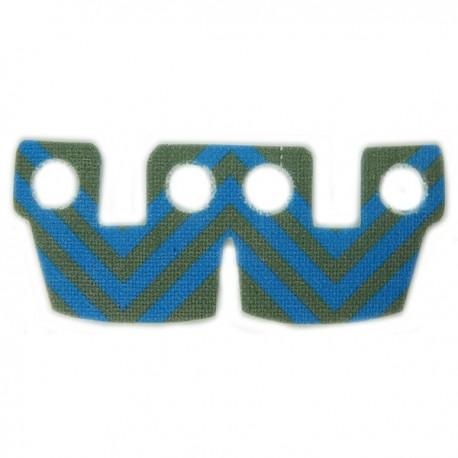 Waistcape Dark Gray Blue Stripes