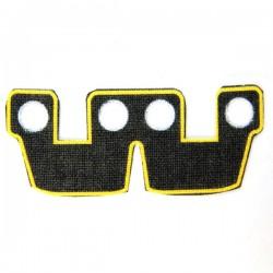 Lego Accessoires Minifig Custom CLONE ARMY CUSTOMS Waistcape Yellow Trim (La Petite Brique)