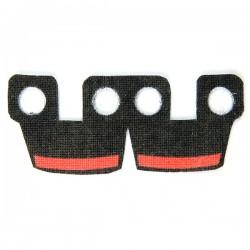 Lego Accessoires Minifig Custom CLONE ARMY CUSTOMS Waistcape Black with Red Bar (La Petite Brique)