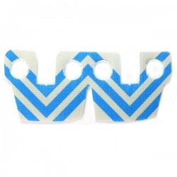 Lego Accessoires Minifig Custom CLONE ARMY CUSTOMS Waistcape Light Gray Blue Stripes (La Petite Brique)