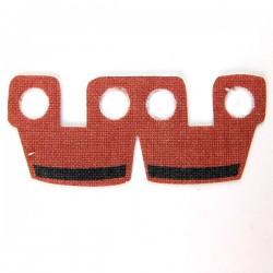 Lego Accessoires Minifig Custom CLONE ARMY CUSTOMS Waistcape Dark Red Black Bar (La Petite Brique)