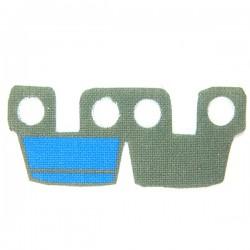 Lego Accessoires Minifig Custom CLONE ARMY CUSTOMS Waistcape Dark Gray Blue Marks (La Petite Brique)